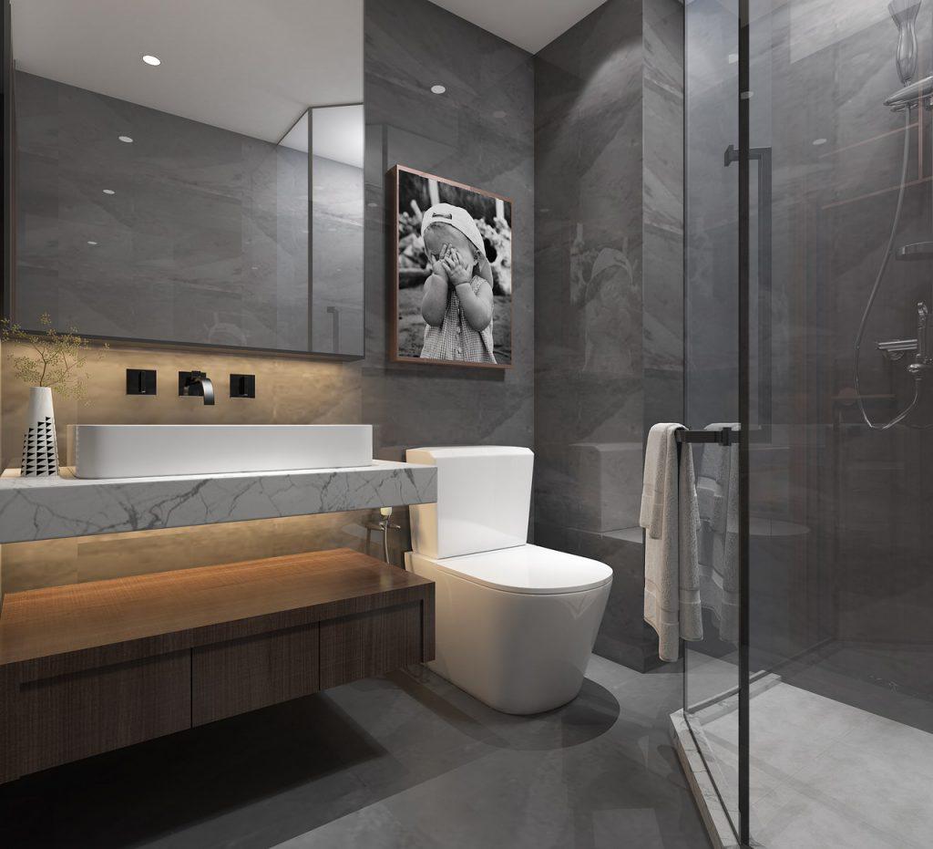De verf voor de badkamer